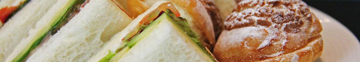 Eating Deli Sandwich at Papa Leone's Country Deli restaurant in Mahwah, NJ.